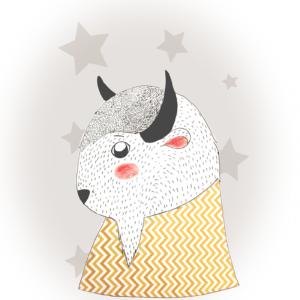 illustration bison