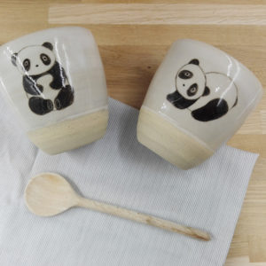duo tasses panda grès